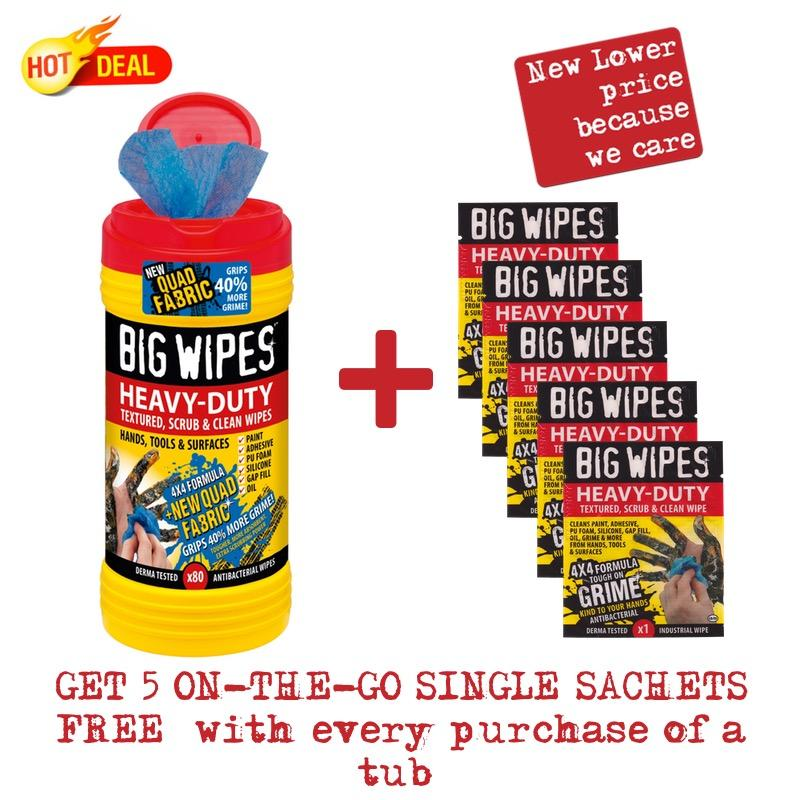 Compare Heavy Duty 4X4 Big Wipes 80S Tub