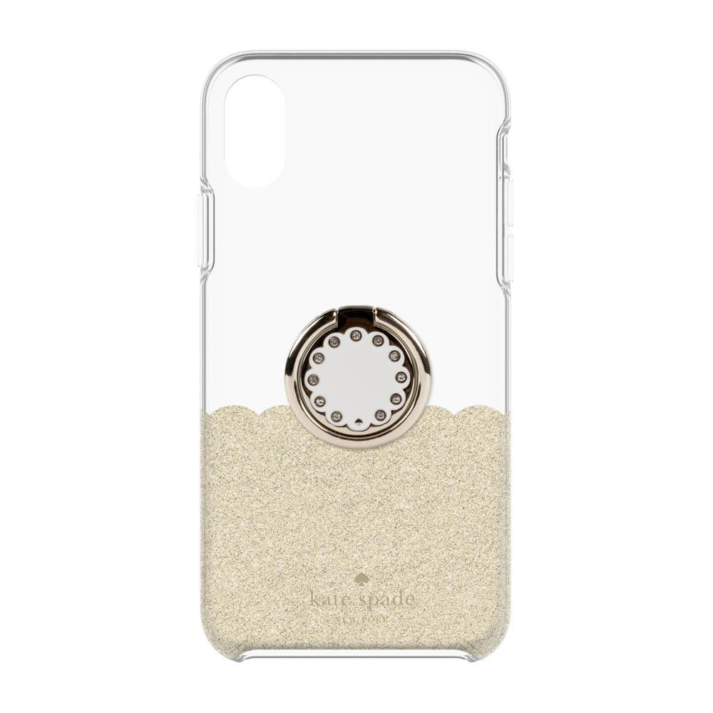 low priced b113d 2f5b2 Kate Spade New York Protective Case + Ring Set For iPhone XR - Gold Scallop