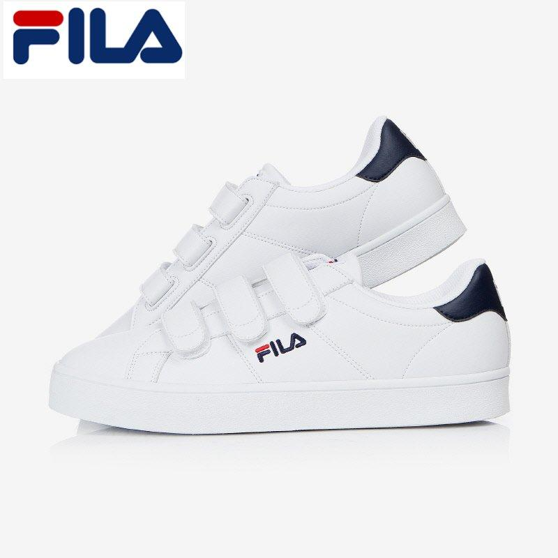 FILA Unisex Court Deluxe FS1SIA1012X_WNV White/Navy Shoes
