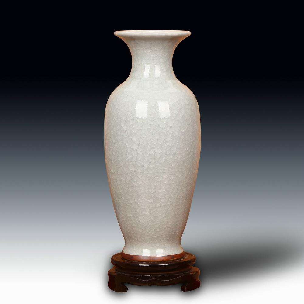 Jingdezhen Ceramic Vase Jun Porcelain Vintage Offcial Kiln Borneol Crackle Glaze Vase Chinese Style Domestic Ornaments