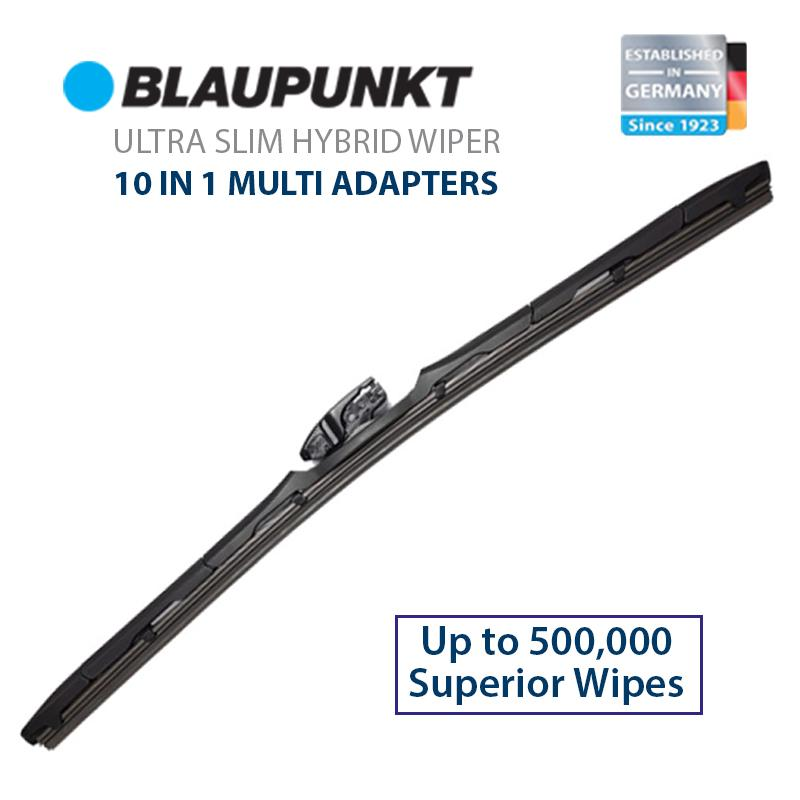 Blaupunkt Ultra Slim Hybrid Car Wiper 10-In-1 Multi Adapter (multi Size) By Redletter.