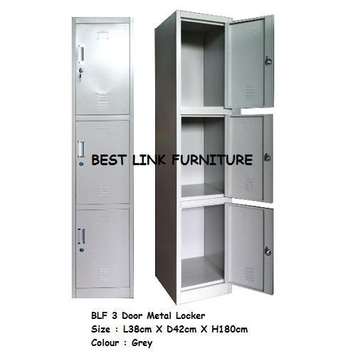 BEST LINK FURNITURE BLF 3 Door Metal Locker