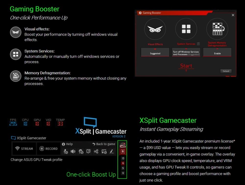 ASUS Strix GeForce® GTX 1060 OC edition 6GB GDDR5 (DUAL FAN) Graphics Card  STRIX-GTX1060-DC2O6G