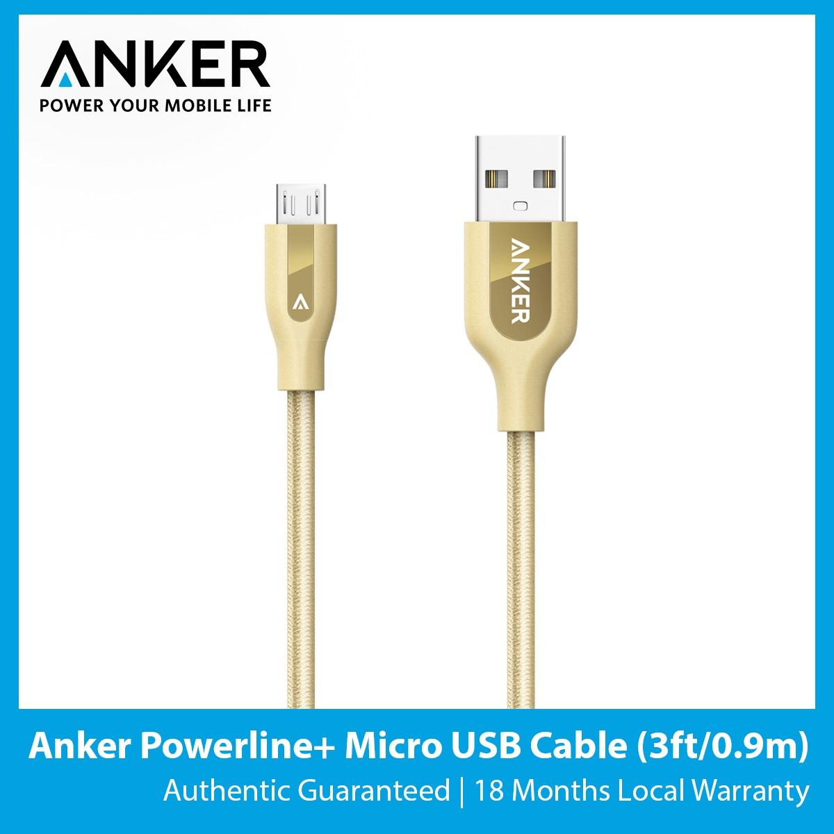 Purchase Anker Powerline Micro Usb Cable 3Ft 9M Online