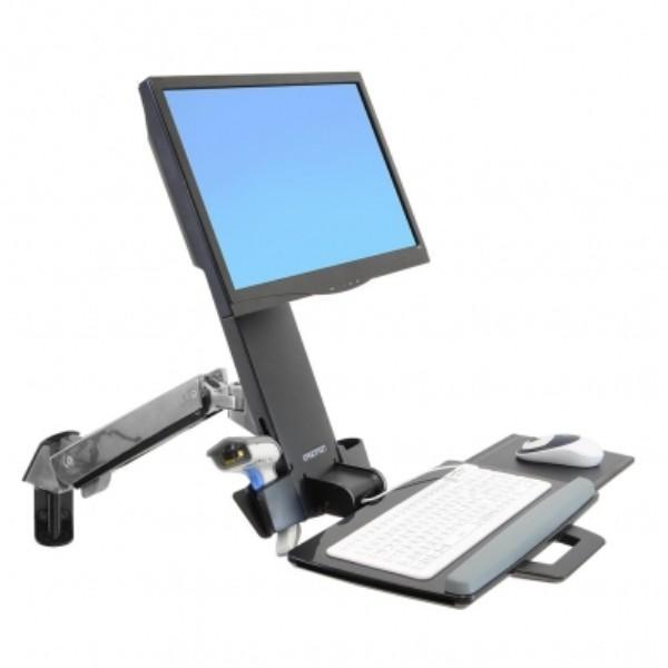Ergotron StyleView® Sit-Stand Combo Arm (polished aluminum)