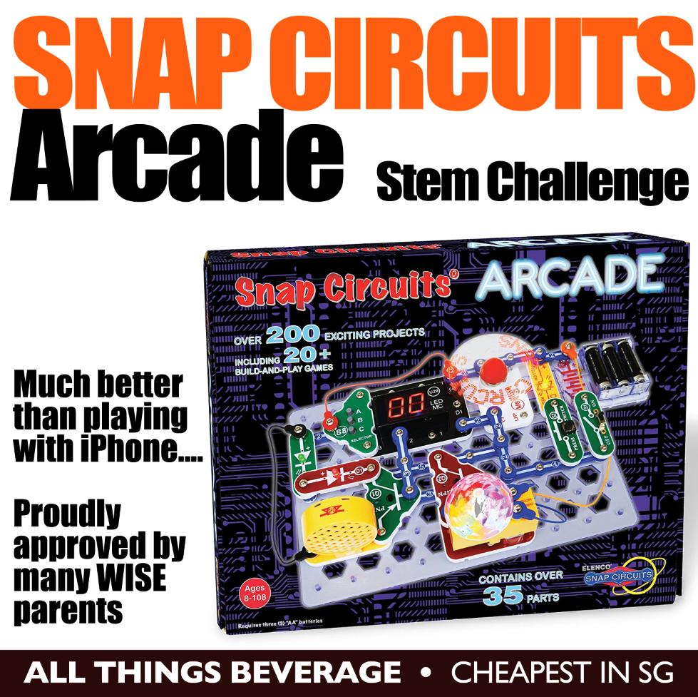 Snap Circuits Buy At Best Price In Singapore Www Motion Scm165 Arcade Electronics Discovery Kit Stem Challenge