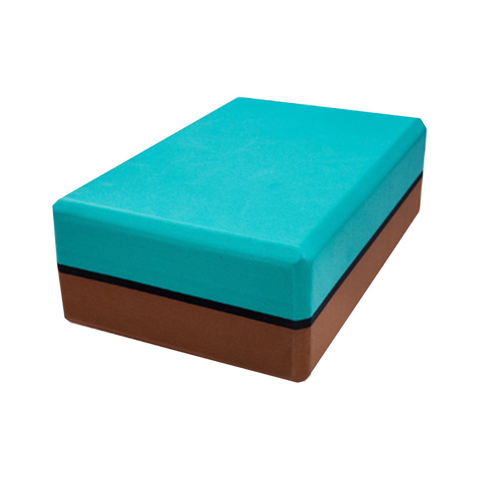 Jiji Premium Dual Color Yoga Block 3 Inch (yoga / Blocks) - High Density Eva Foam/ Yoga Aerobic Pilates Foam Block Brick Home Exercise Fitness (sg) By Jiji Sports.
