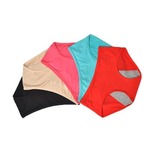The Cheapest 5 Pack Plus Size大码 Menstrual Sanitary 经期防漏 Bamboo Fibre Panties 3 Layers Leakproof Paddings Online