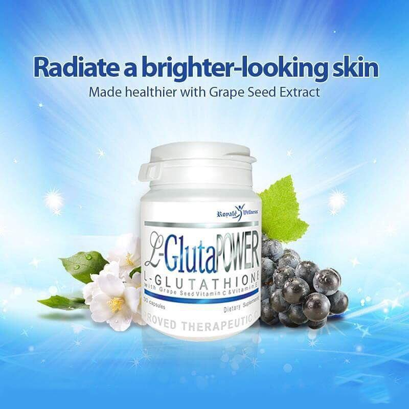 Sale L Gluta Power L Glutathione With Grape Seed Vitamin C E 30 Capsules Singapore