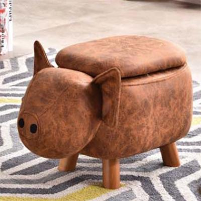 JIJI (Kids Animal Ride Storage Chair Stool - Pig w/ Storage) / Childrens / Kids Storage / Storage Stool / Stool with Storage / Animal Stool / (SG)