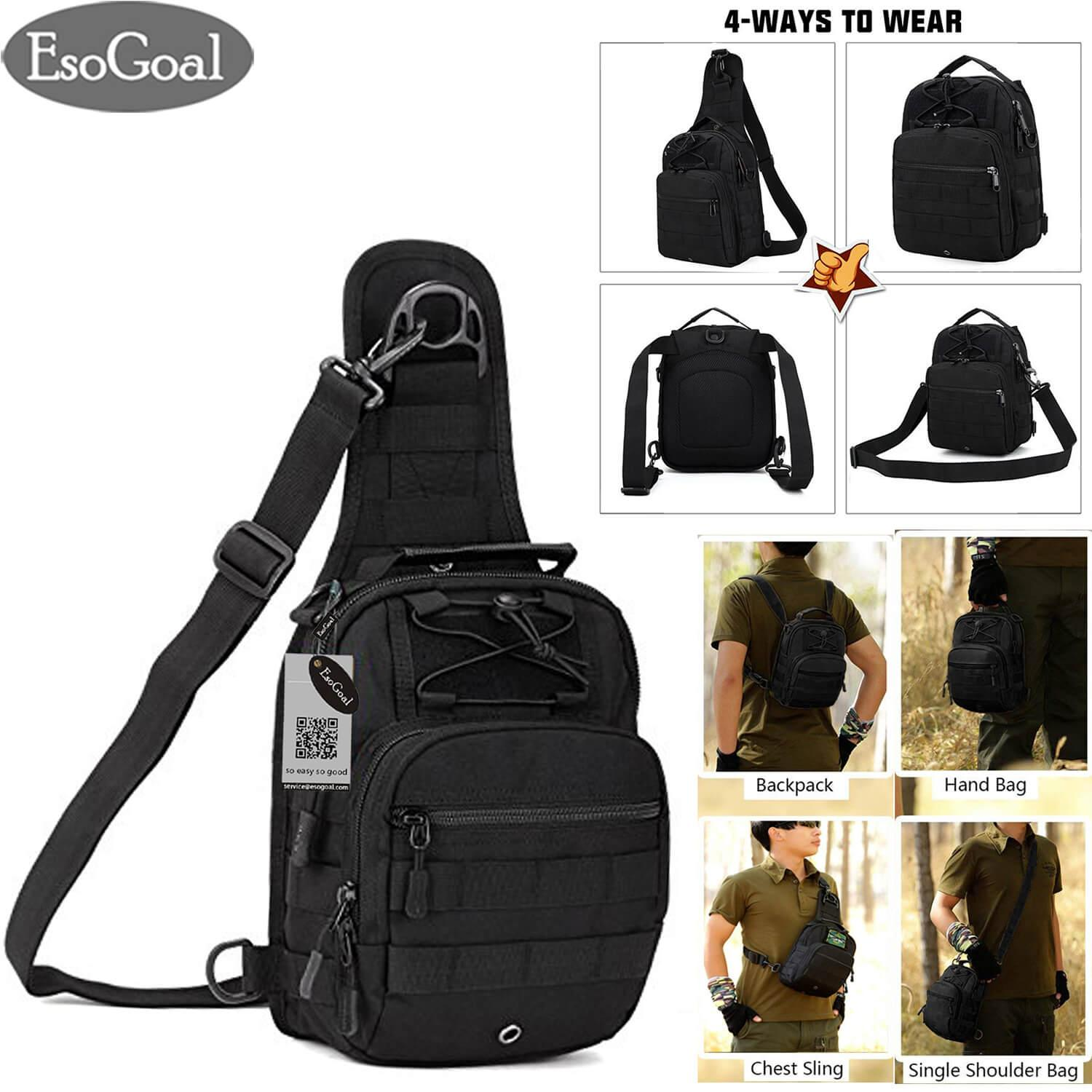 e0675d97a0 EsoGoal Military Tactical Chest Backpack Shoulder Bag Sling Daypack Travel  Bag Pack for Hunting