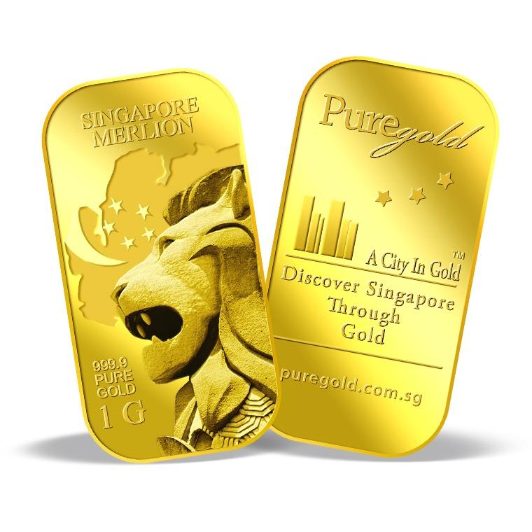Where To Shop For Puregold Singapore 1G Merlion Map Gold Bar 999 9