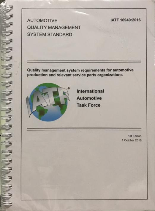 IATF 16949 - 2016 - Quality Management Systems Requirement Automotive Book