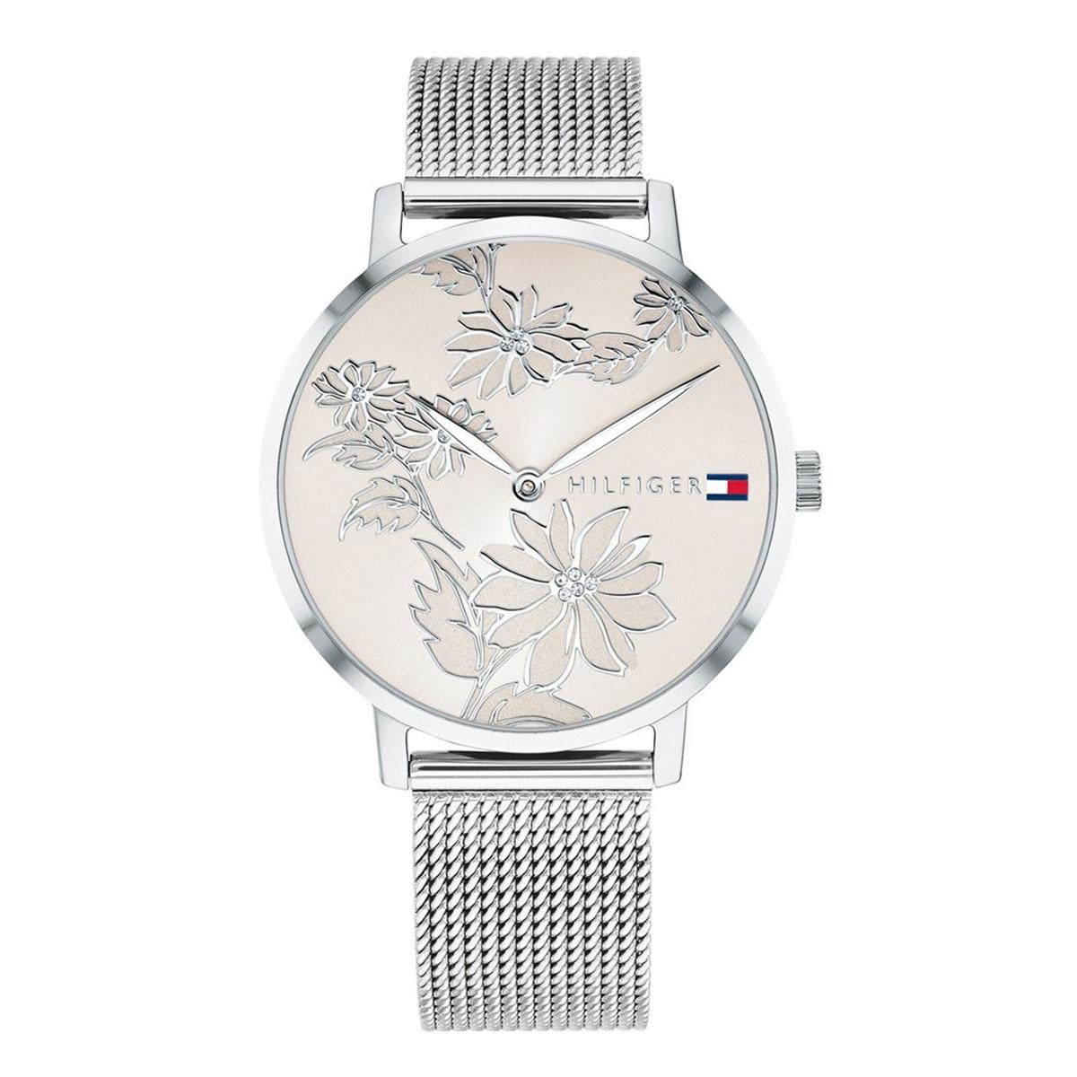 Tommy Hilfiger Pippa Silver Stainless-Steel Case Stainless-Steel Bracelet Ladies 1781920 By Watcheszon.