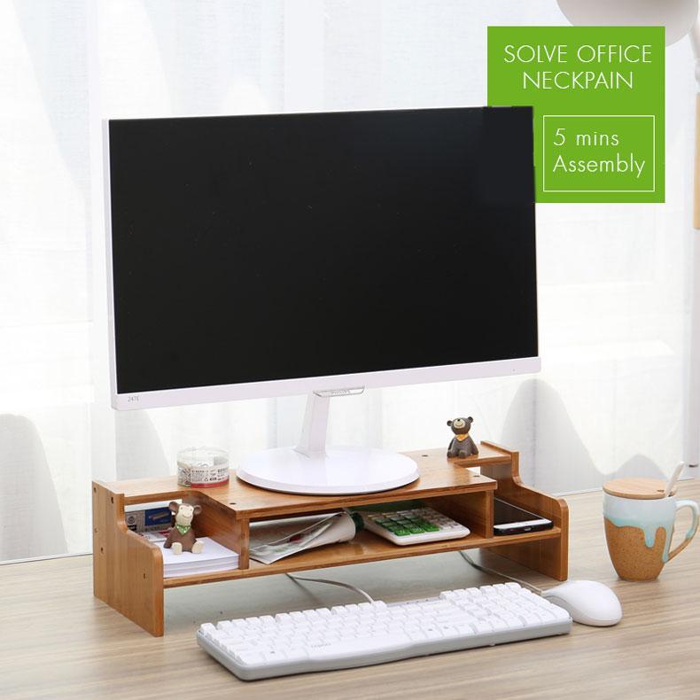 Norzy Monitor Rack Stand Office Desktop Organizer Drawer Shelving