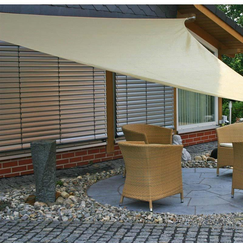 10 x10 Sun Shade Sail Triangle Canopy - Permeable UV Block Fabric Durable Outdoor