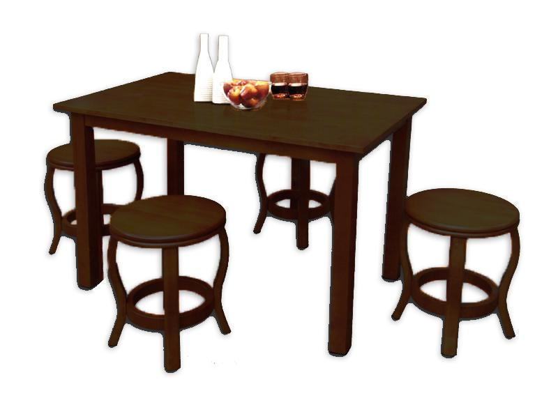 [A-STAR]  (1+4) Dining Set Table and Stool Chair in 2 Colours