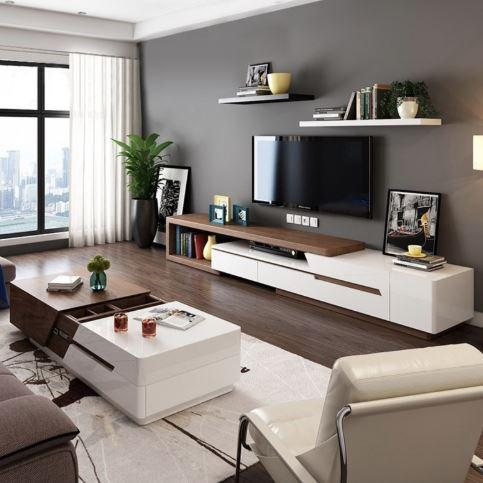 JIJI Ameriwood Modern Pine Wood Premium Living Room Package (FREE Installation) - Tables / Coffee / TV Console (SG)