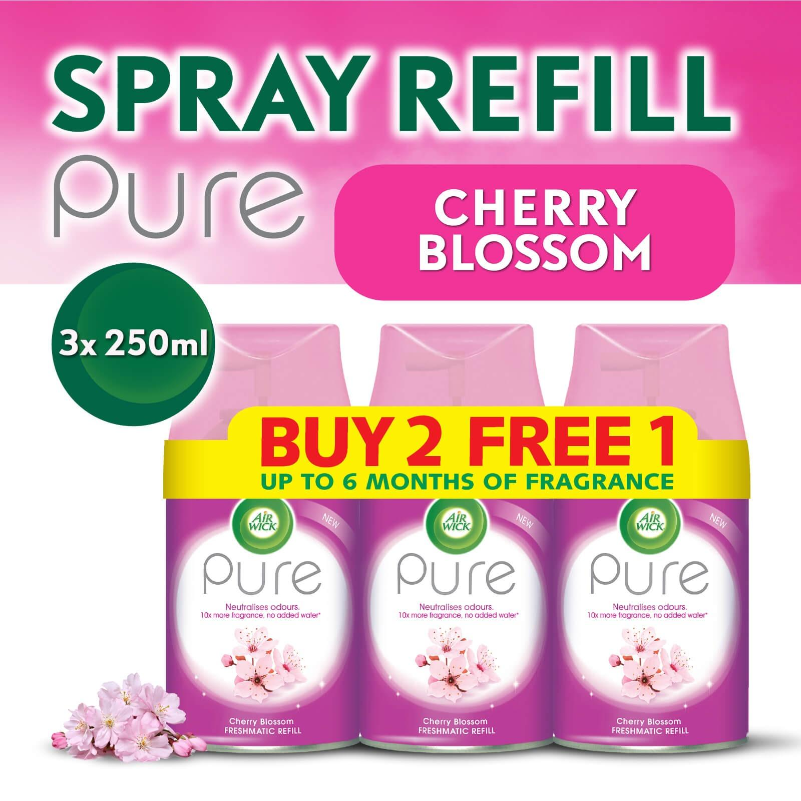 Air Wick Pure Freshmatic Refill Cherry Blossom Buy 2 Get 1 Free Triple Pack 250ml Air Care / Freshener