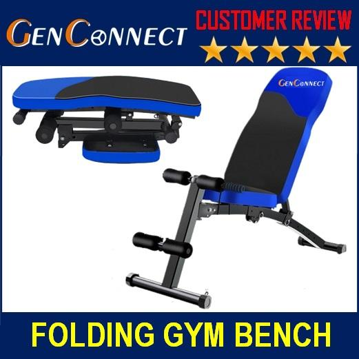 Foldable Workout Bench Gym Bench! Strong And Sturdy! (black) By Genconnect.