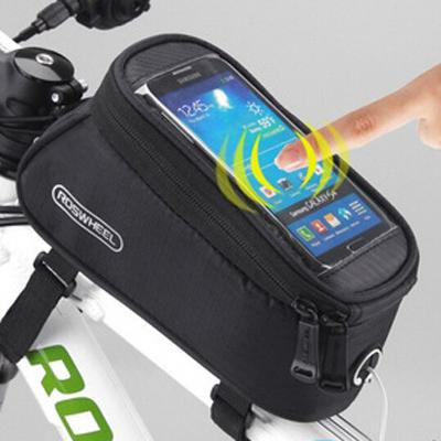 4b003dc8490 Roswheel Bicycle Frame Bag - Bike Mount Pouch For phone Outdoor Sports  Waterproof Front Top Tube