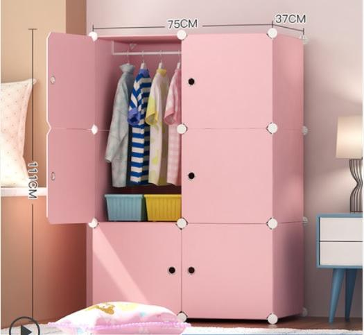 Creative STORAGE Multi-purpose Clothes and Shoes Rack Cabinet Cubes Stackable Prepacked DIY Modular