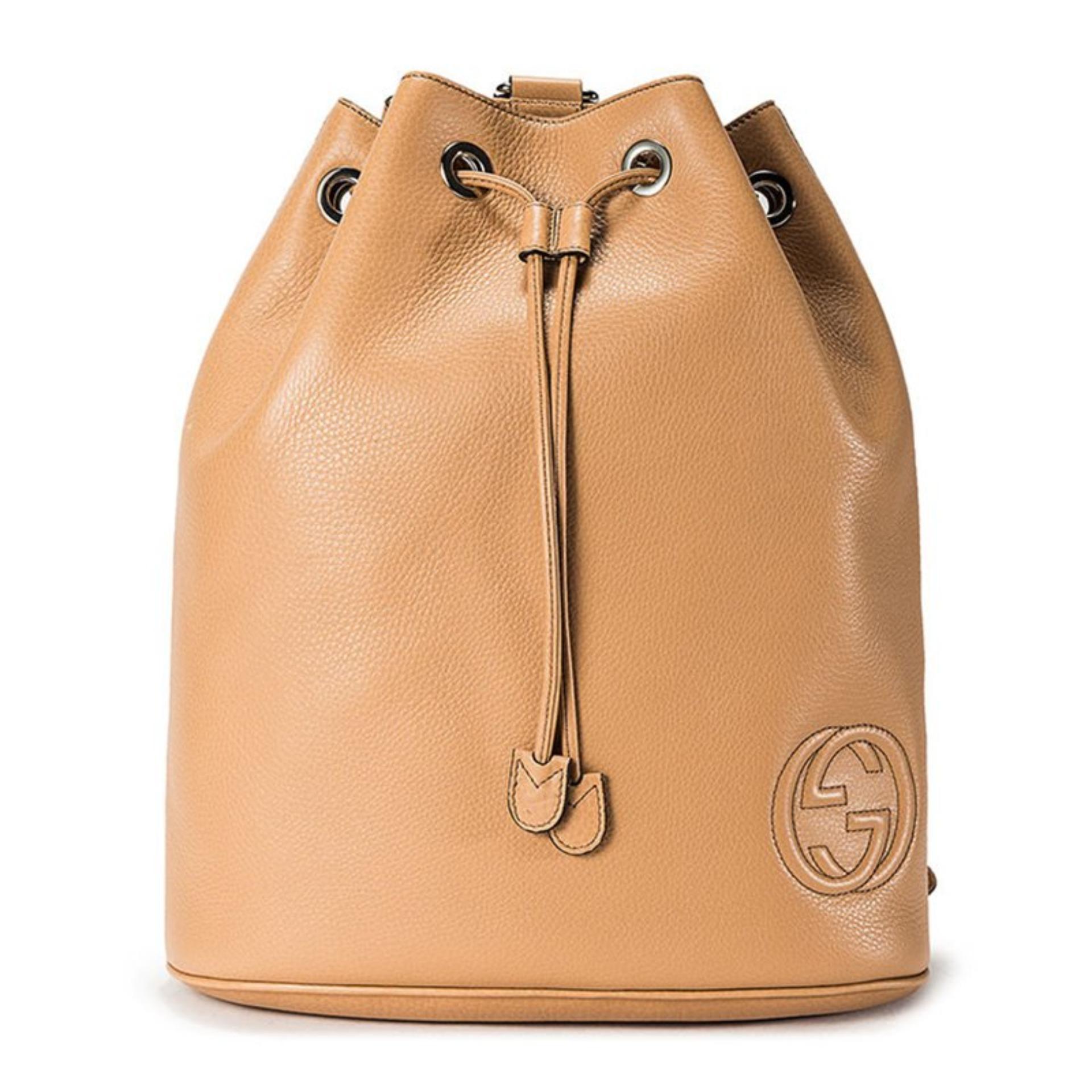b7e0e7f176f3 Gucci Soho Leather Drawstring Backpack (Rose Beige)   368588A7M0N2754