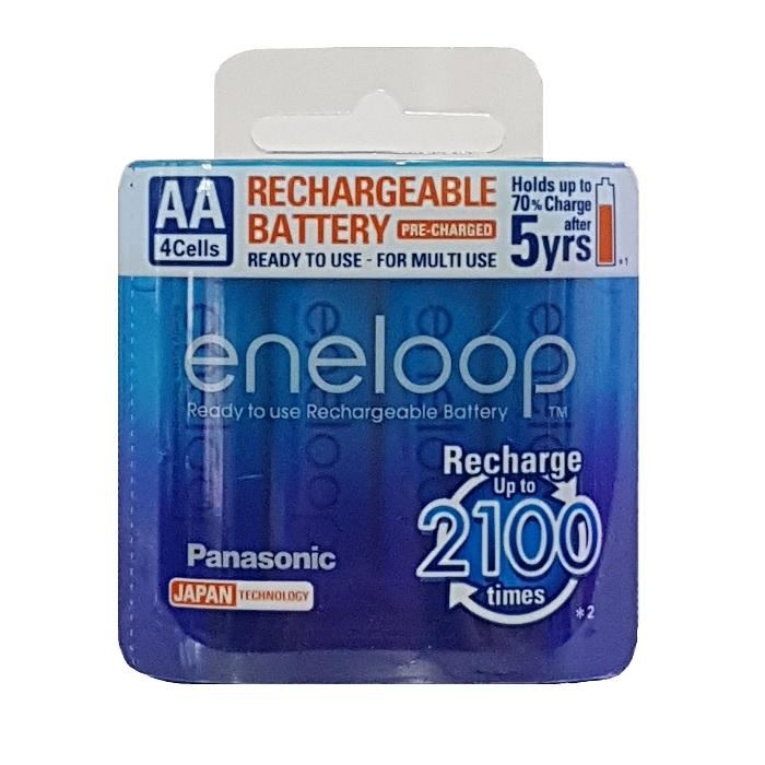 4x Panasonic Eneloop 1900mah Aa Rechargeable Batteries 2100 Cycle Genuine New By Best Deals Singapore!.