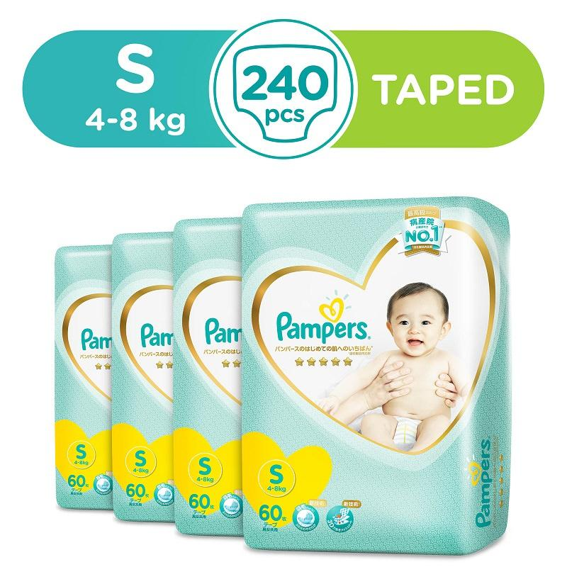 Purchase New Packaging Pampers Premium Care Tape Diapers S60S X 4 Packs 4 8Kg Japan Version Online