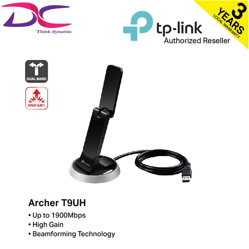 Tp-Link Archer T9uh Ac1900 High Gain Wireless Dual Band Usb Adapter By Dynacore.