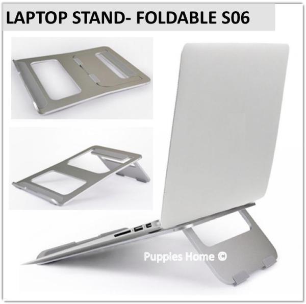 Laptop Stand Monitor Foldable Folding Organizer Adjustable Holder Rise PC and MacBook Ergonomic Design