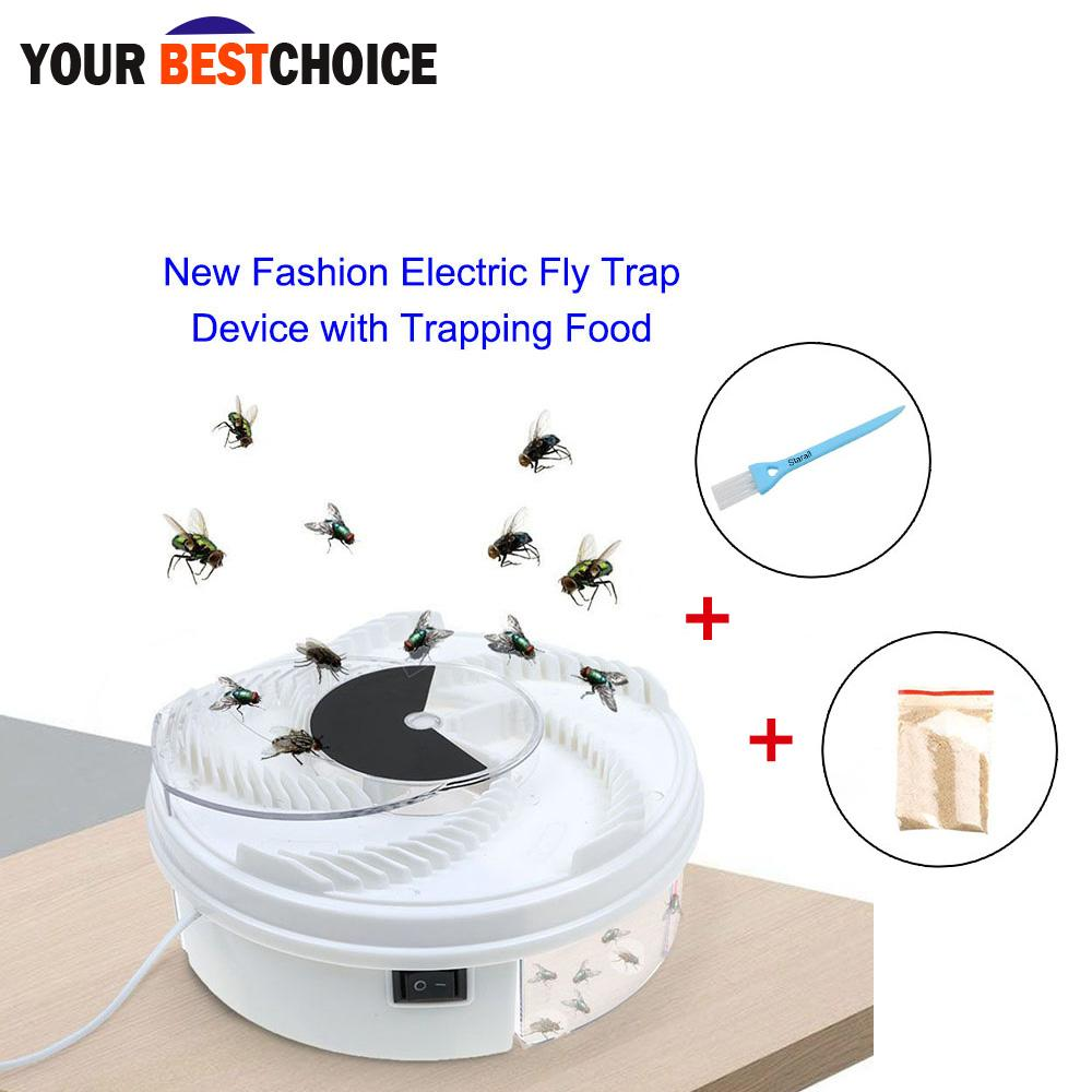 Ybc Fly Trap Device Autumatic Electric With Trapping Food+usb Cable+brush By Your Bestchoice.