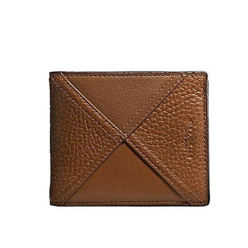 Sale Coach Mens 3 In 1 Wallet In Patchwork Leather F56599 Coach Online