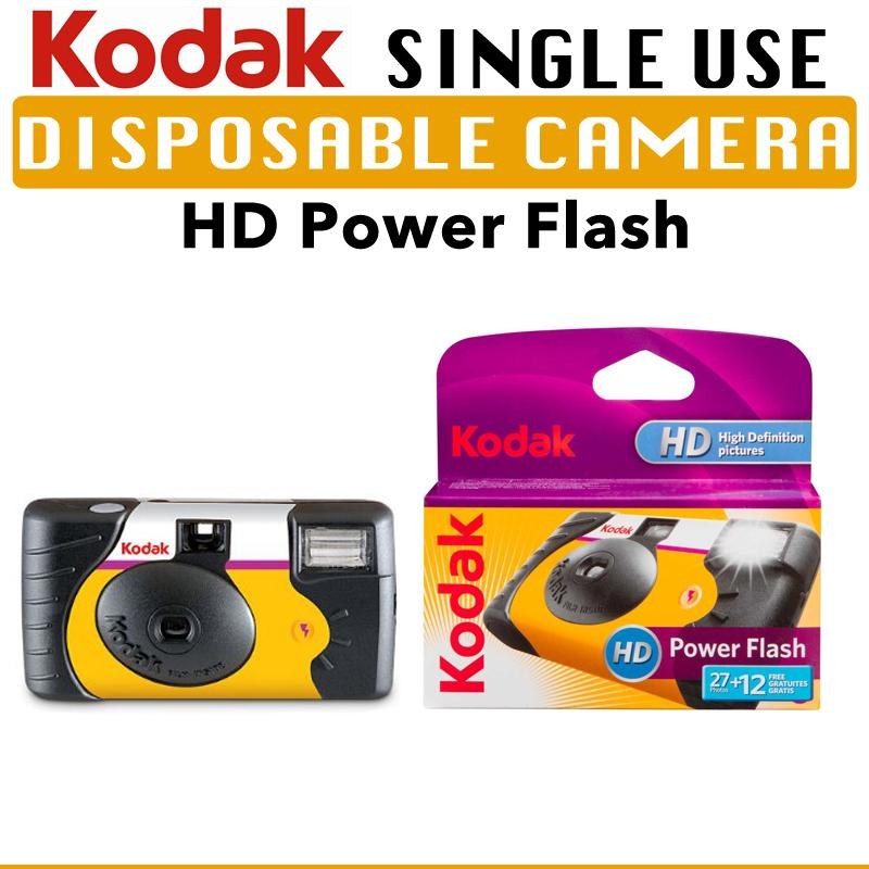 Kodak Power Flash Single Use Disposable Camera By Icm Photography.