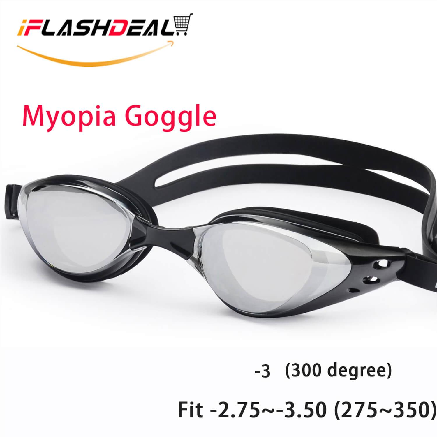 37802699c02 iFlashDeal Myopia Swim Goggles Swimming Goggles No Leaking Anti Fog UV  Protection Suit for -2