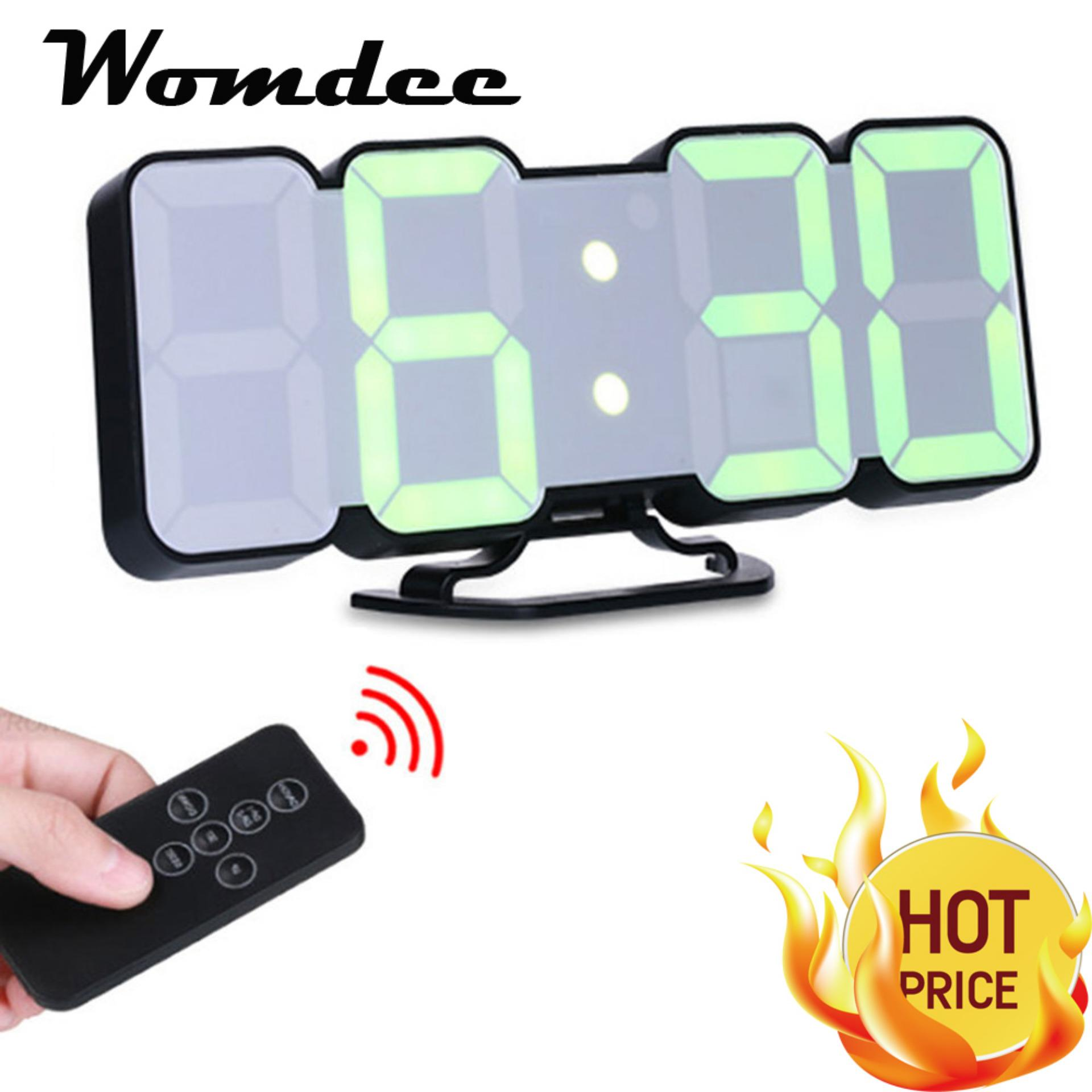 Discount Womdee Led Digital Clock Remote Control Voice Control 3D Led Digital Alarm Clock Display Time Date Temperature In 115 Colors For Desktop Wall Clock Home Decoration Intl China