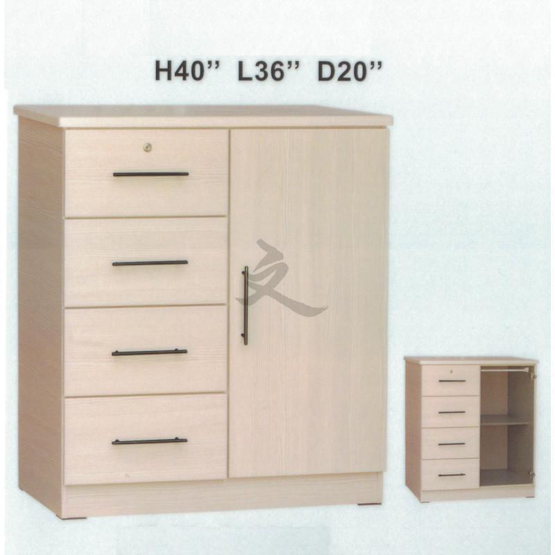 Chest of Drawers with Key Lock Storage Cabinet Children Wardrobe