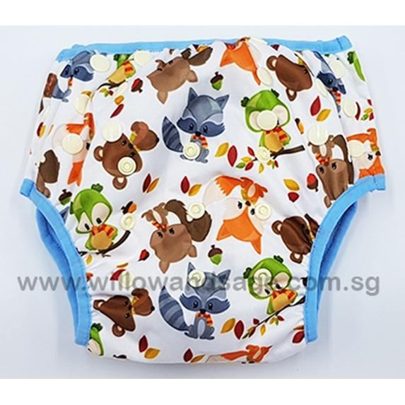 Baby Toddler Reusable Swim Diaper - Woodsy Critters By Willow & Sage.