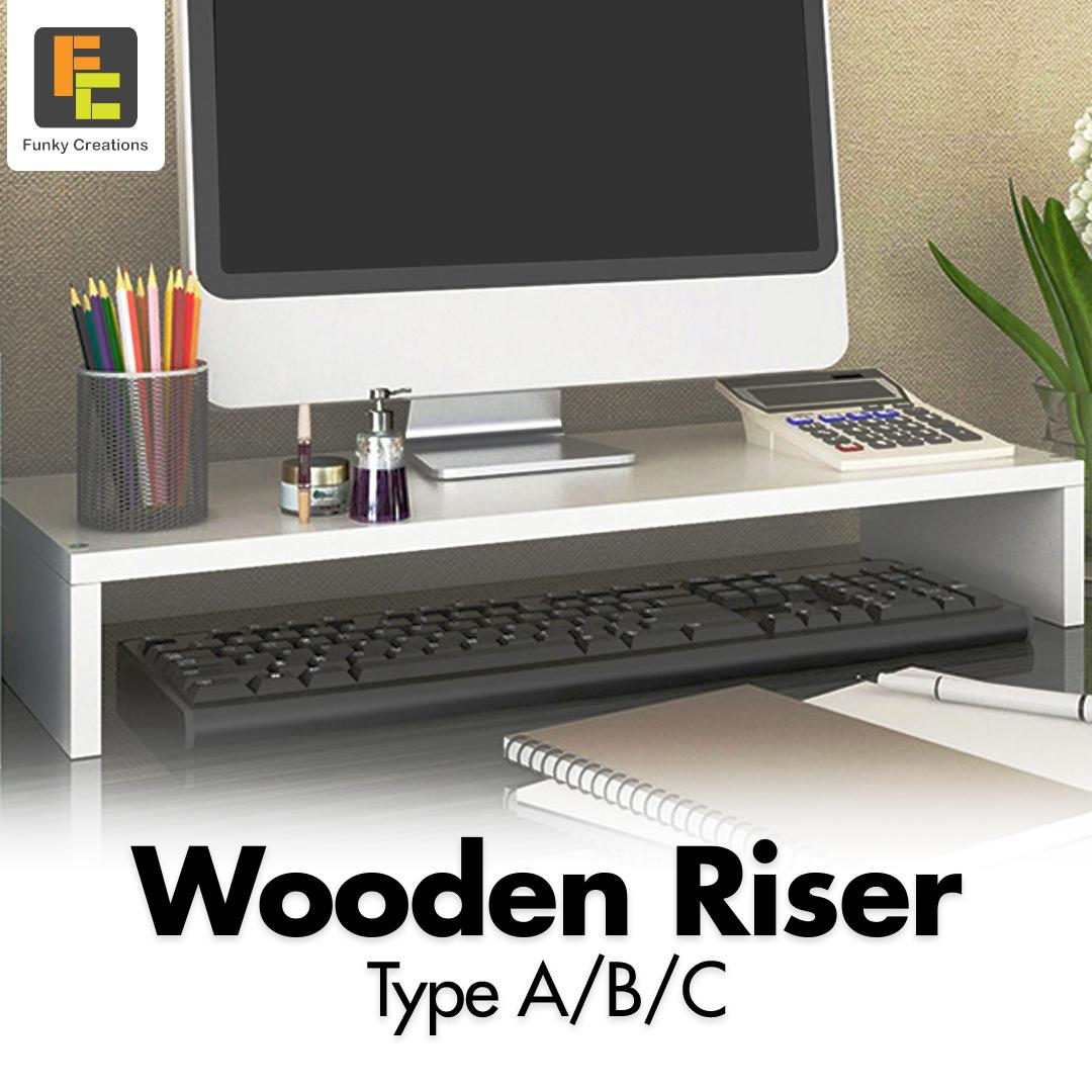 Wooden Monitor Stand/Riser Available in 3 design