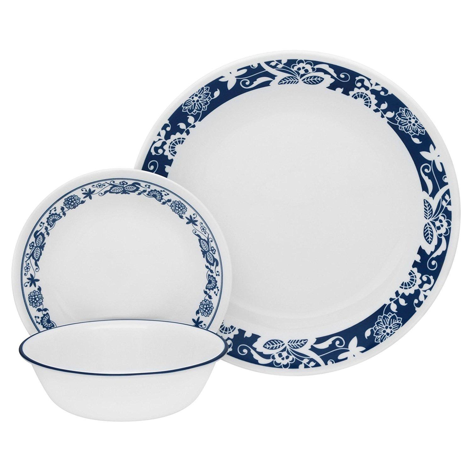 dishes corelle cottage in set cottages piece livingware dinnerware country