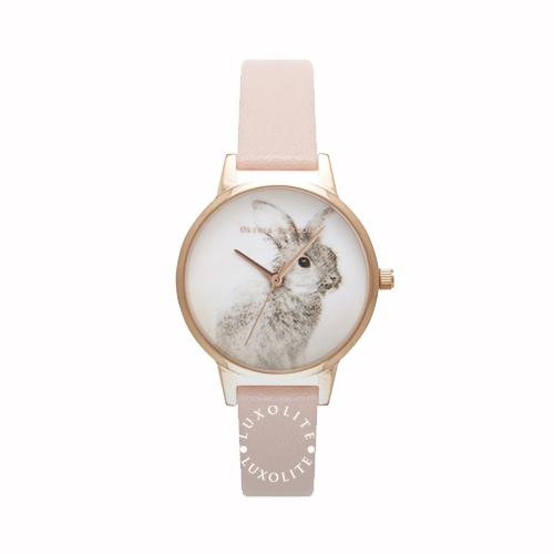 Where Can You Buy Olivia Burton Ladies Woodland Bunny Dusty Pink Rose Gold Watch Ob16Wl61