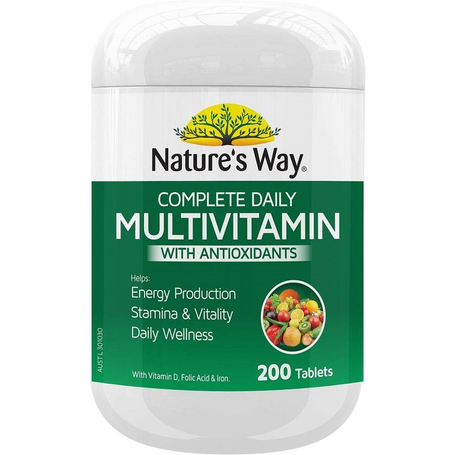 Multivitamines avec antioxydants Natures Way, 200 comprimés, décembre 2020, par Australia Health Warehouse.