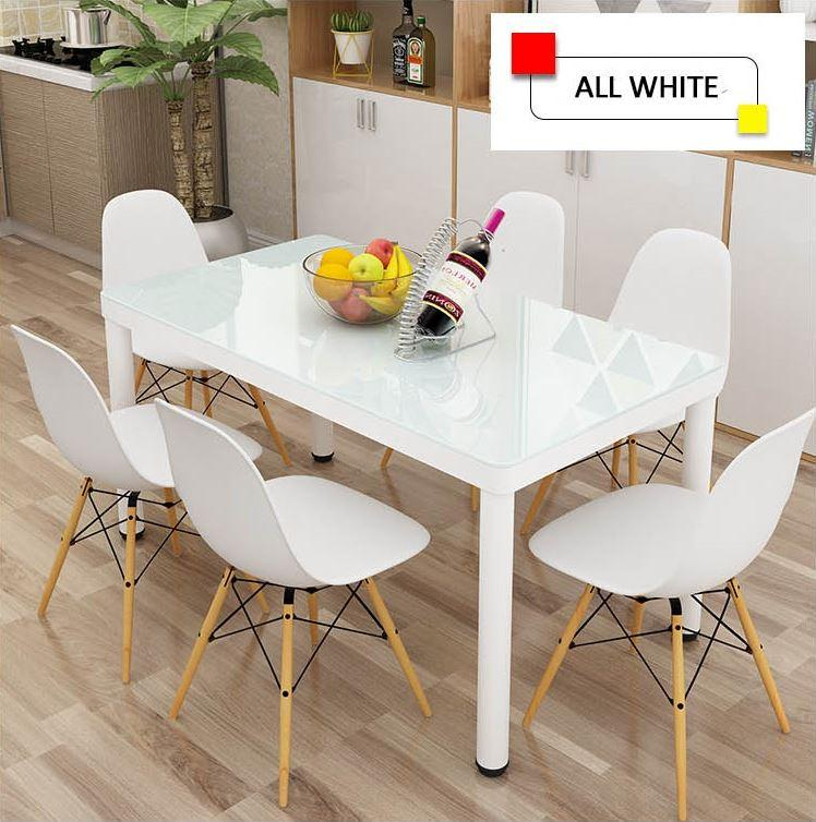 JIJI Eames Designer Dining Table - Glass Series 120 x 60 cm (Free Installation) / Tables / Furniture (SG)