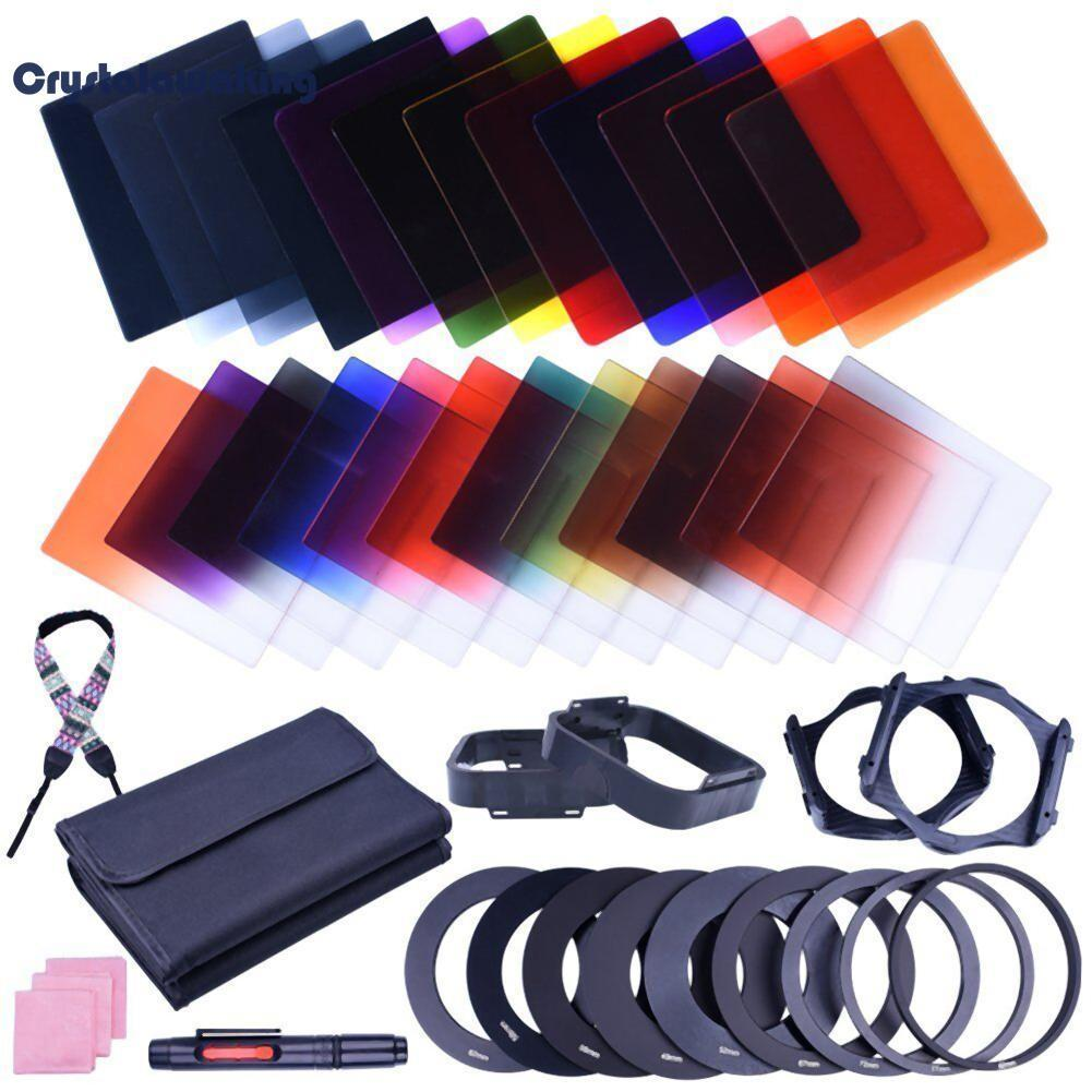 38pcs Square 24 Color Nd Filter Lens Sets Kit With Filter Holder Adapter (multicolor) - Intl By Crystalawaking.