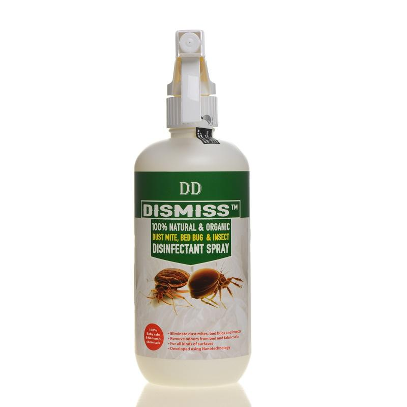Dd Dismiss 100% Natural & Organic Dust Mite, Bed Bug & Insect Disinfectant Spray 500ml By Dd Solution.