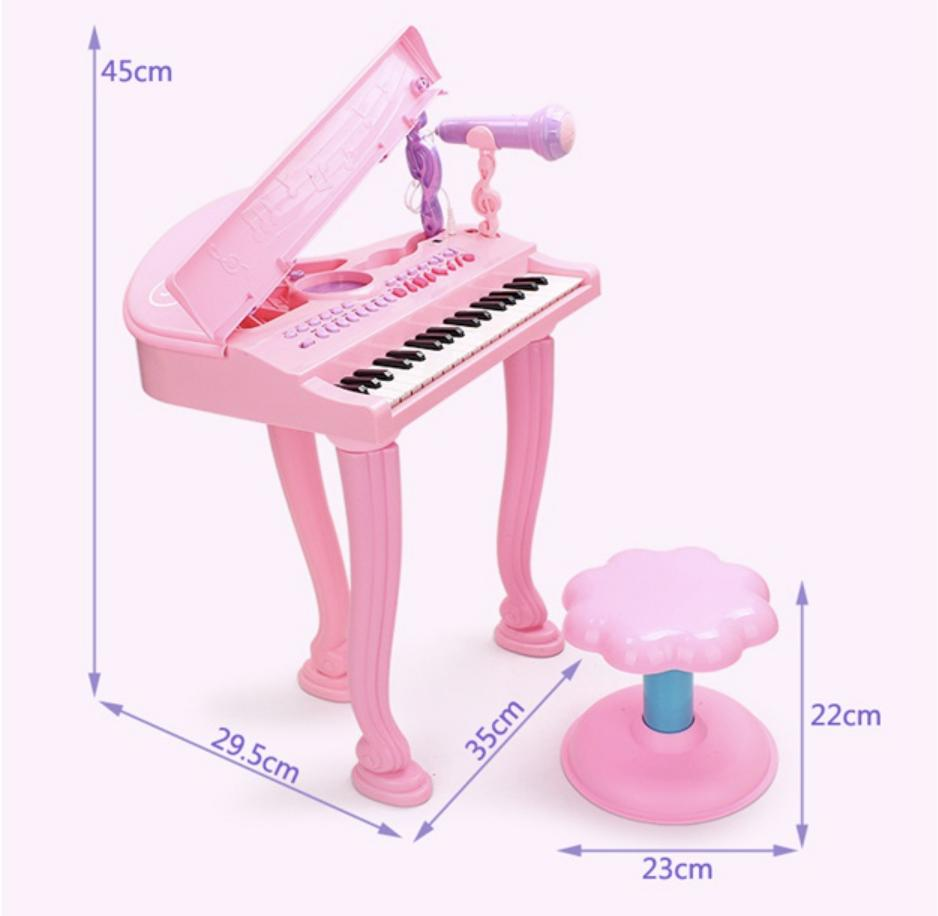 Kids Piano Set with Seat