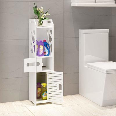 Bathroom Storage Cabinet Organizer Size 200x150x800 mm - Free Standing Bedroom Closet Shelves Shelf Rack