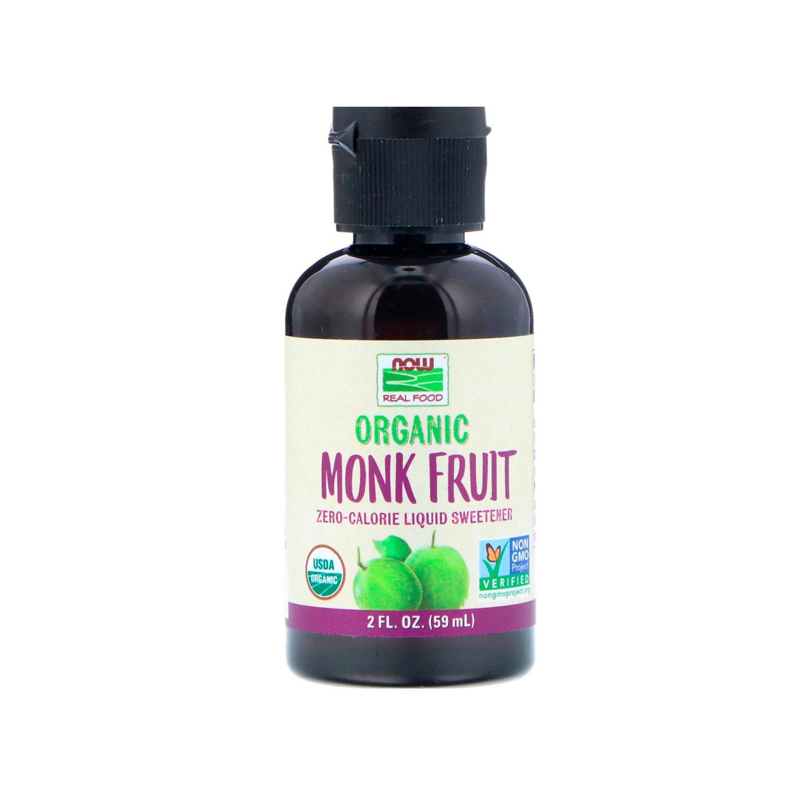 Now Foods, Organic Monk Fruit, Liquid Sweetener, 2 Fl Oz (59 Ml) By Bloom Concept.