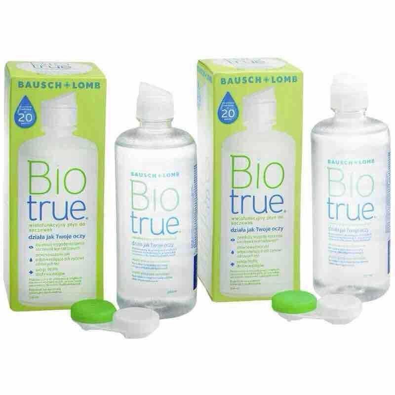 2x Biotrue contact lens multipurpose multi purpose solution bio true