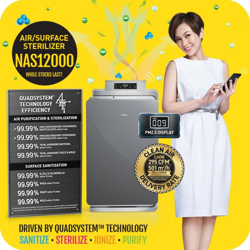 novita AirCare Pro™ Air/Surface Sterilizer NAS12000 with 2 Years Full Warranty Singapore